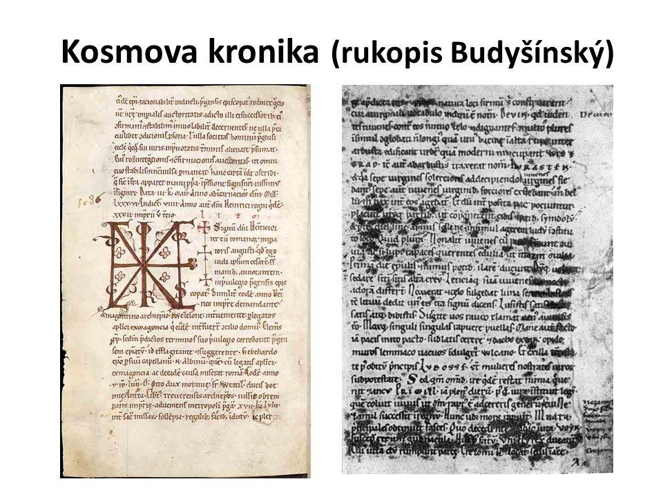 Kosmova kronika (rukopis Budyšínský)