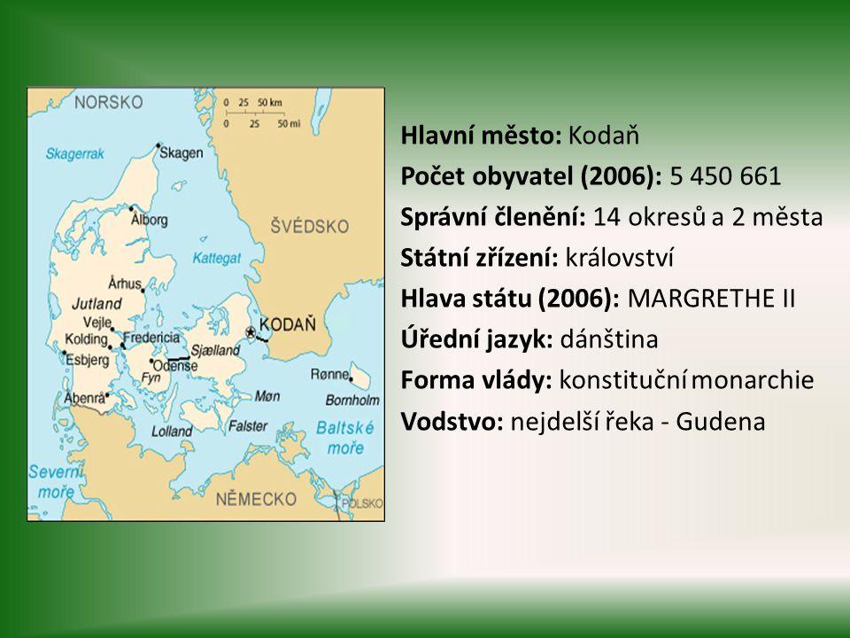 Dánsko je nejmenší ze skandinávských zemí, neleží však na Skandinávském poloostrově.