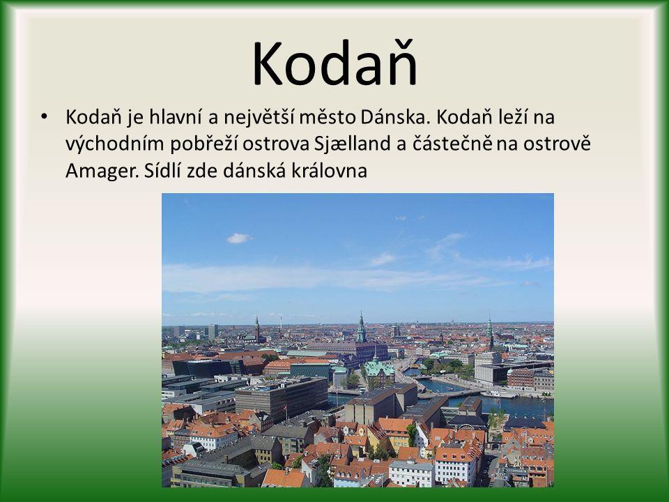 Kodaň rozloha: 88 km² počet obyvatel 1,223,217 hustota zalidnění: 2 659 obyv. / km²