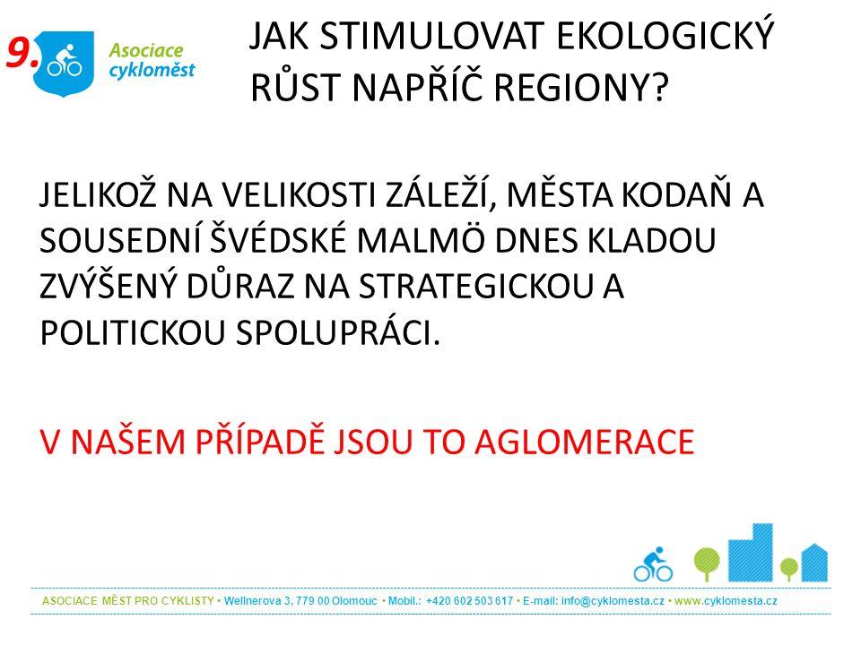 ASOCIACE MĚST PRO CYKLISTY Wellnerova 3, 779 00 Olomouc Mobil.: +420 602 503 617 E-mail: info@cyklomesta.cz www.cyklomesta.cz JELIKOŽ NA VELIKOSTI ZÁL