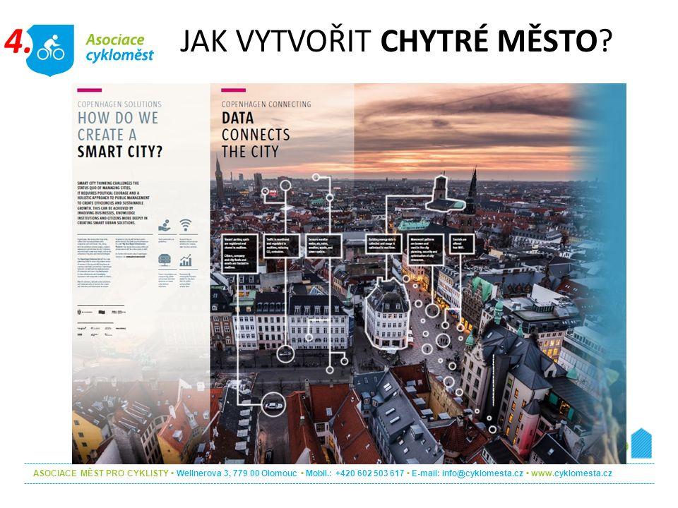 ASOCIACE MĚST PRO CYKLISTY Wellnerova 3, 779 00 Olomouc Mobil.: +420 602 503 617 E-mail: info@cyklomesta.cz www.cyklomesta.cz JAK VYTVOŘIT CHYTRÉ MĚSTO.
