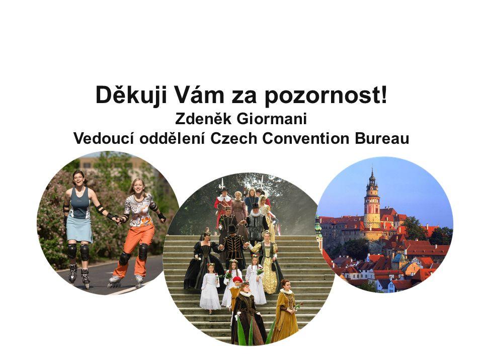 Thank You! Děkuji Vám za pozornost! Zdeněk Giormani Vedoucí oddělení Czech Convention Bureau