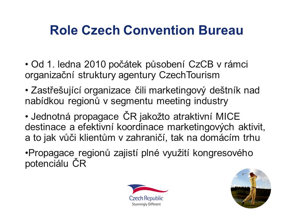 Role Czech Convention Bureau Od 1.