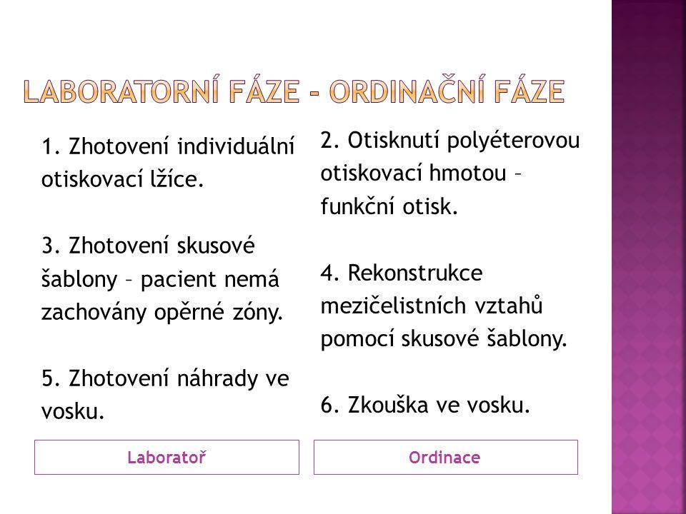 LaboratořOrdinace 1. Zhotovení individuální otiskovací lžíce.