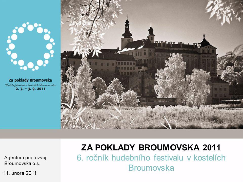 ZA POKLADY BROUMOVSKA 2011 6. ročník hudebního festivalu v kostelích Broumovska 11.
