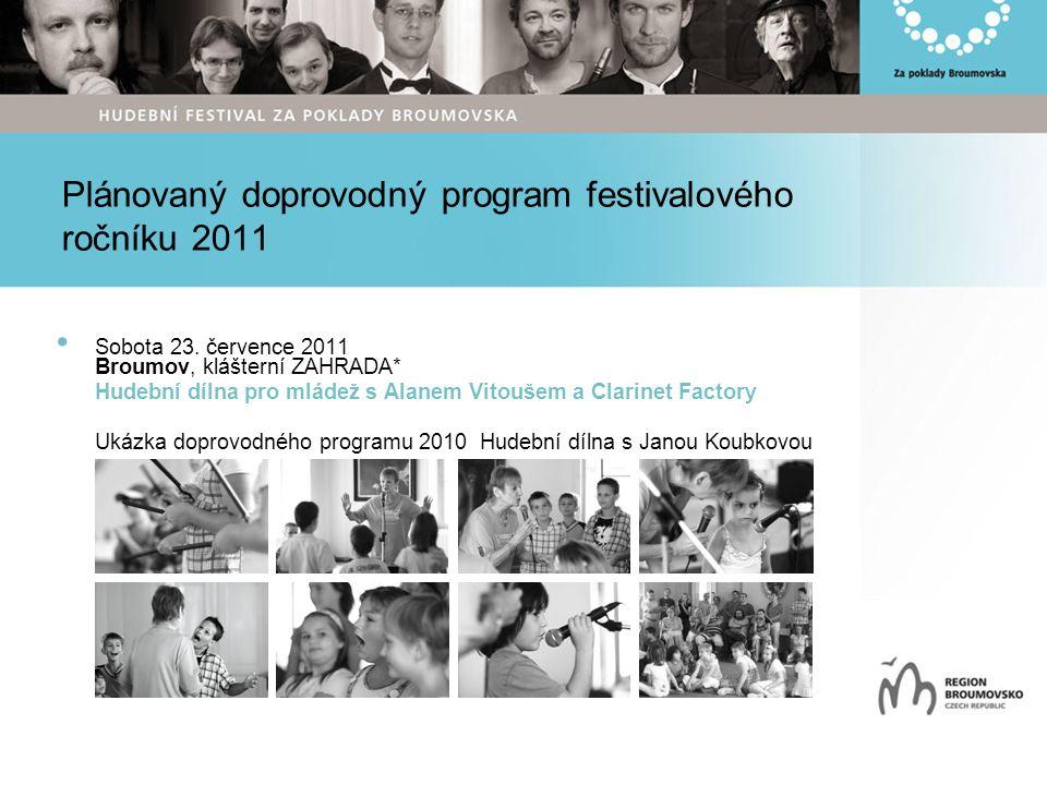Plánovaný doprovodný program festivalového ročníku 2011 Sobota 23.