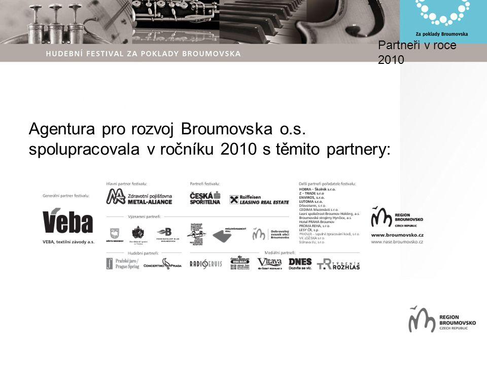 Partneři v roce 2010 Agentura pro rozvoj Broumovska o.s. spolupracovala v ročníku 2010 s těmito partnery: