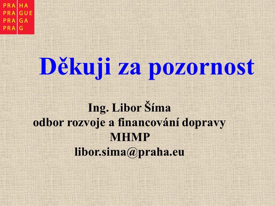 Děkuji za pozornost Ing. Libor Šíma odbor rozvoje a financování dopravy MHMP libor.sima@praha.eu