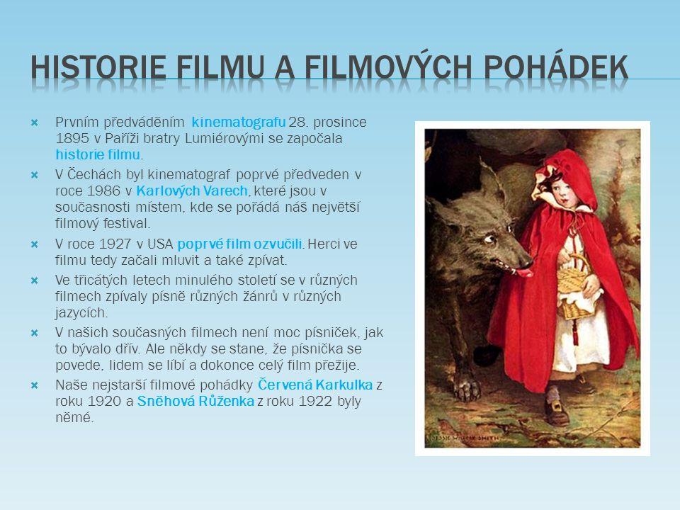  Prvním předváděním kinematografu 28.