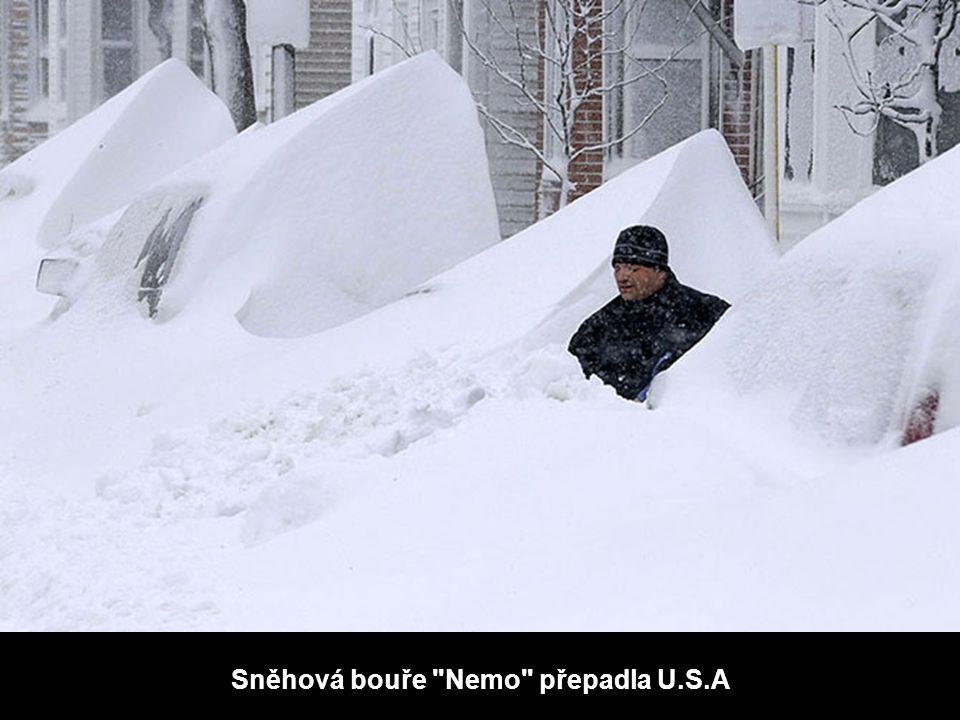 Sněhová bouře Nemo přepadla U.S.A