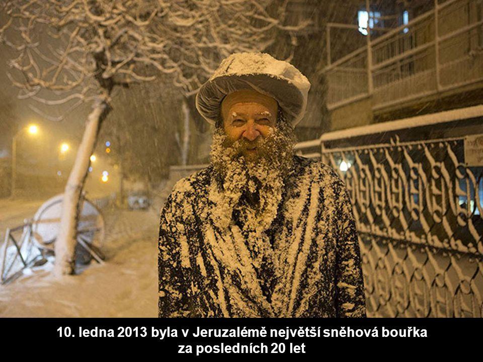 10. ledna 2013 byla v Jeruzalémě největší sněhová bouřka za posledních 20 let