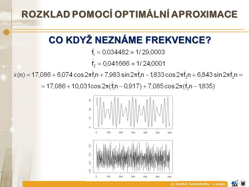 © Institut biostatistiky a analýz CO KDYŽ NEZNÁME FREKVENCE ROZKLAD POMOCÍ OPTIMÁLNÍ APROXIMACE
