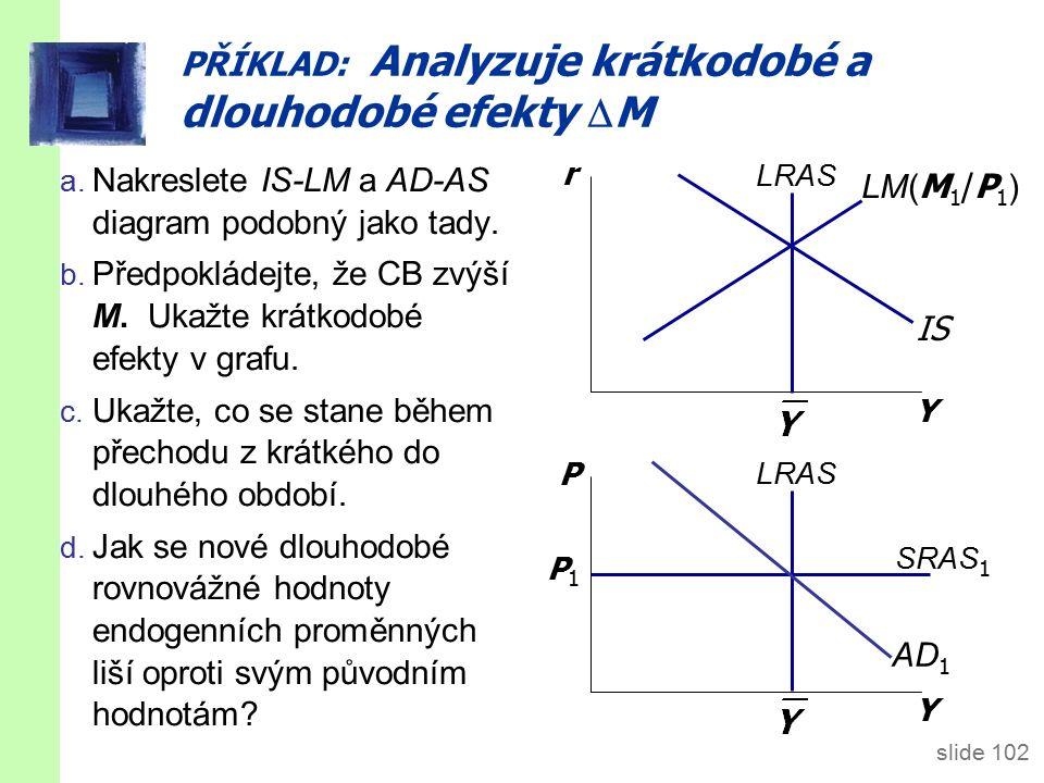 slide 102 PŘÍKLAD: Analyzuje krátkodobé a dlouhodobé efekty  M a.