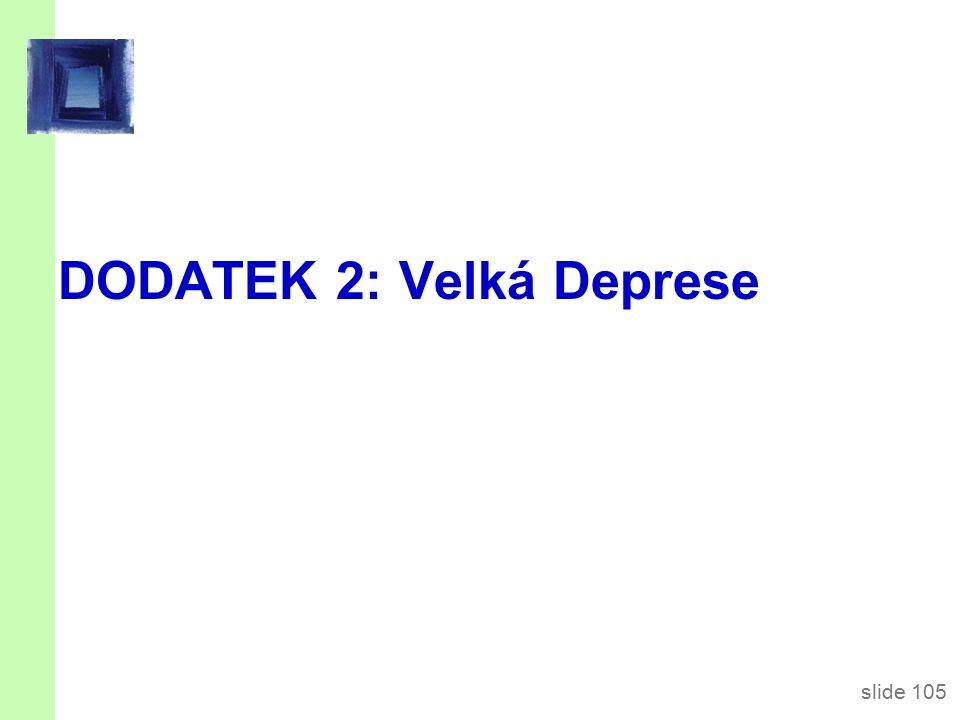 slide 105 DODATEK 2: Velká Deprese