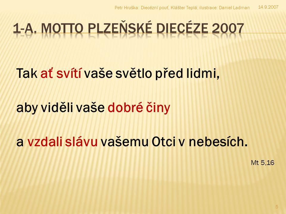 14.9.2007 16 Petr Hruška: Diecézní pouť, Klášter Teplá; ilustrace: Daniel Ladman