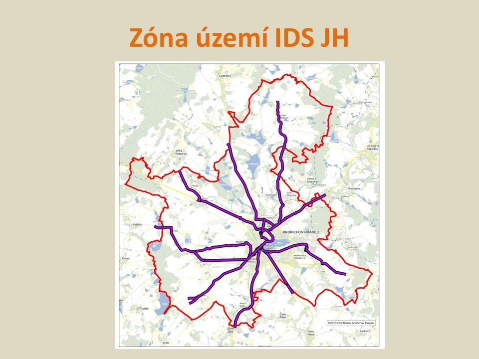Zóna území IDS JH
