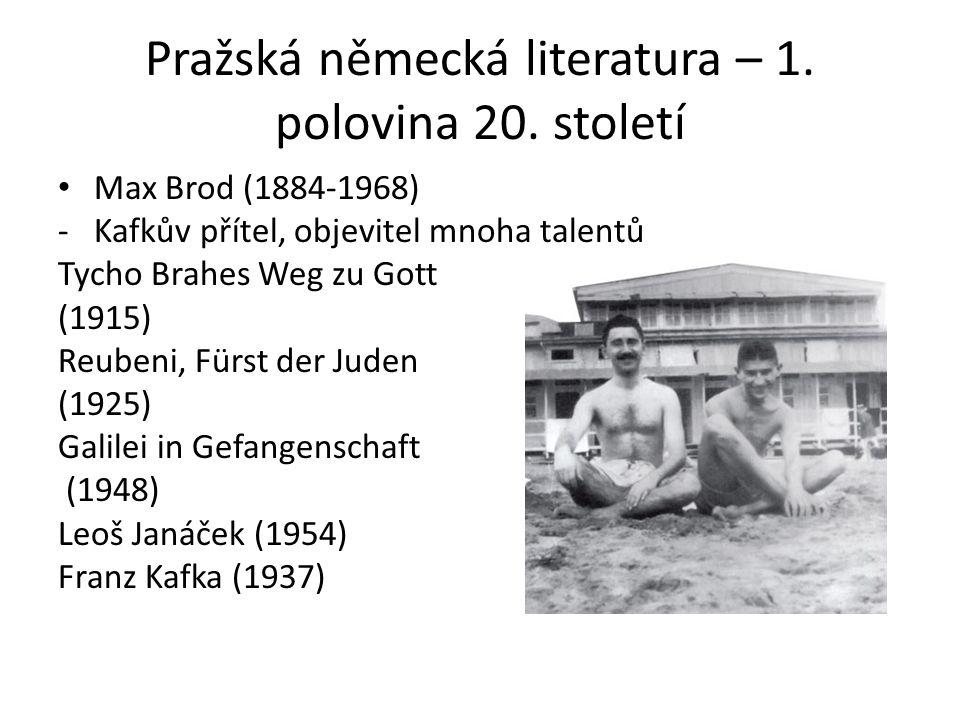 Pražská německá literatura – 1. polovina 20.