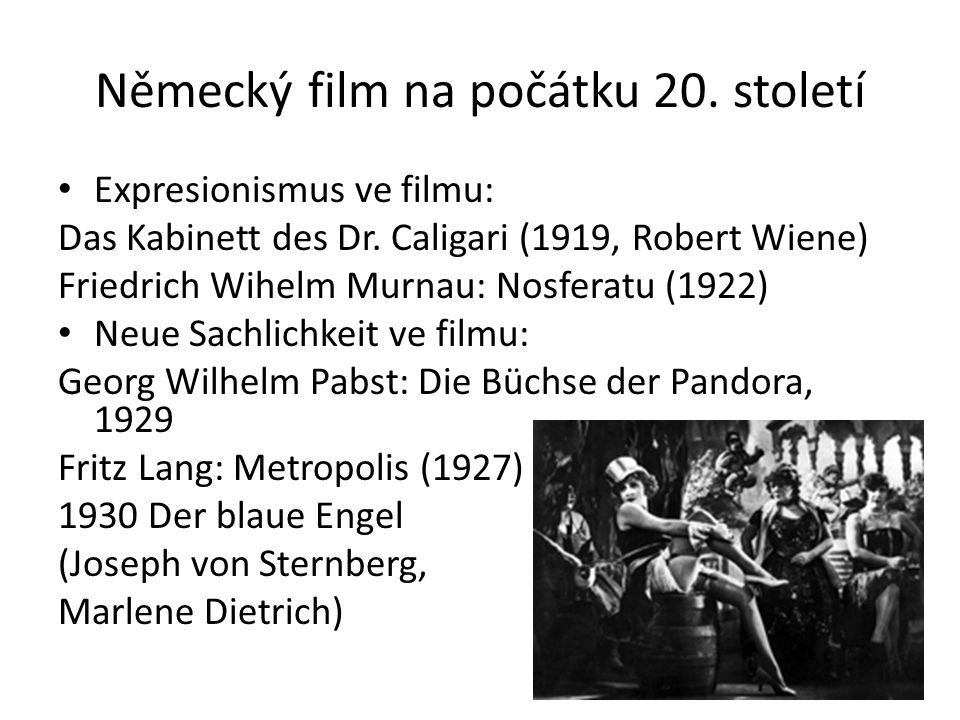 Německý film na počátku 20. století Expresionismus ve filmu: Das Kabinett des Dr.