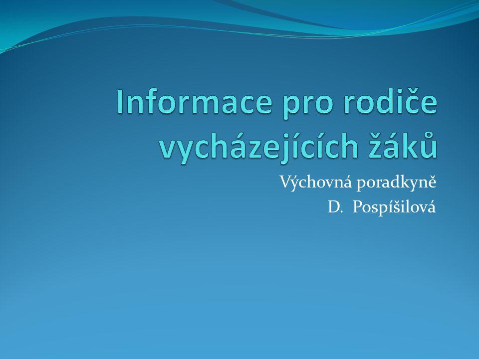 Výchovná poradkyně D. Pospíšilová