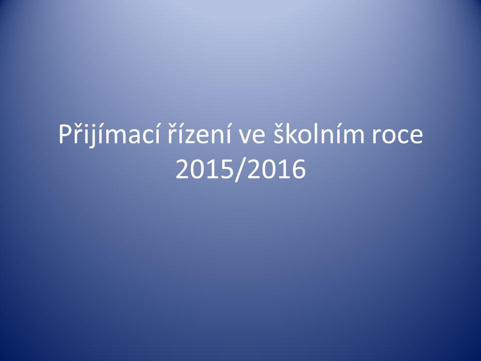 Přijímací řízení ve školním roce 2015/2016