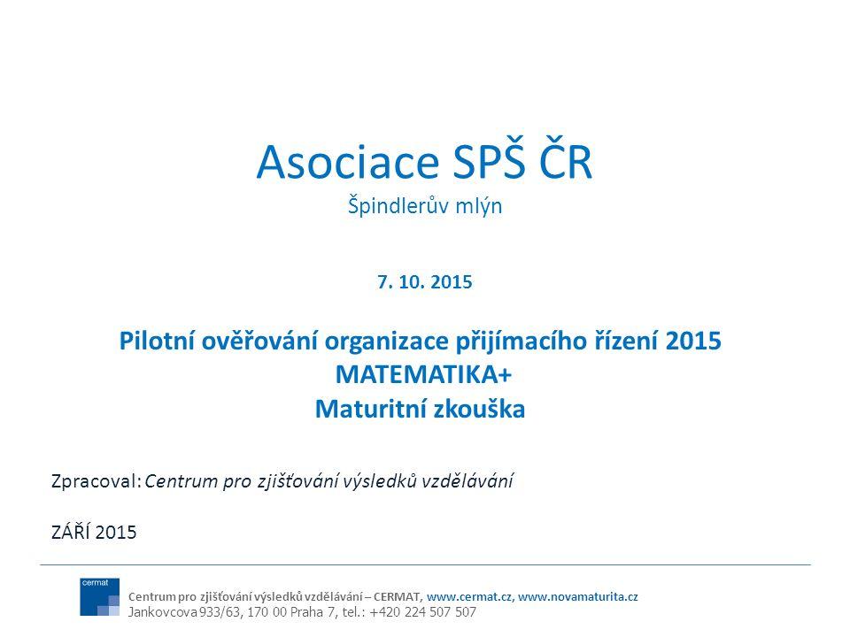 POČTY A VÝSLEDKY ŽÁKŮ 2015 (na základě vyhodnocených výsledků k 12.