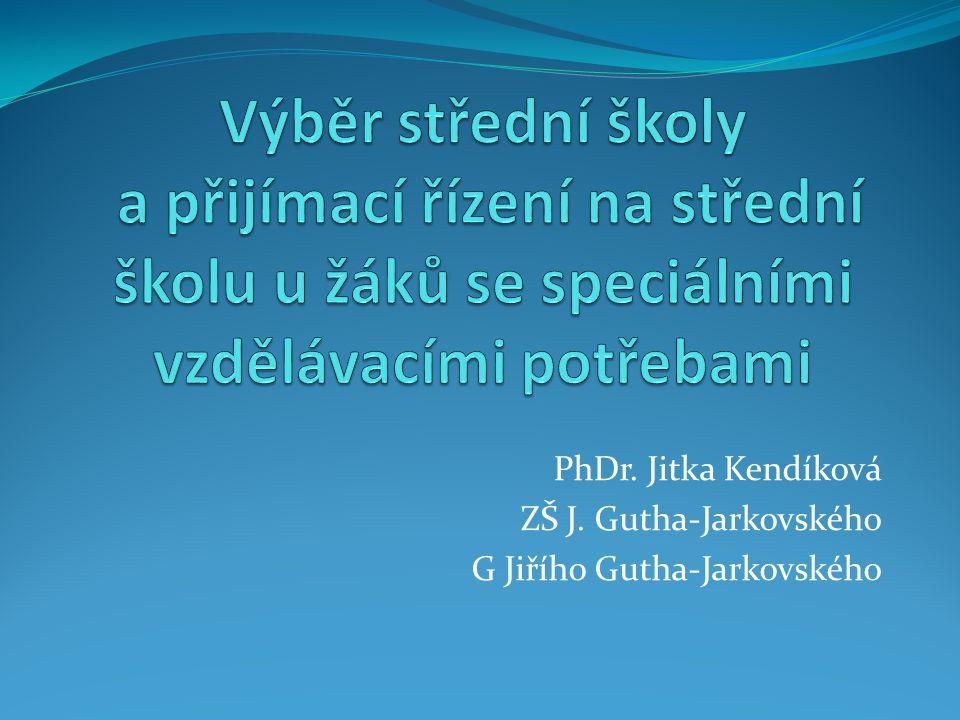 PhDr. Jitka Kendíková ZŠ J. Gutha-Jarkovského G Jiřího Gutha-Jarkovského