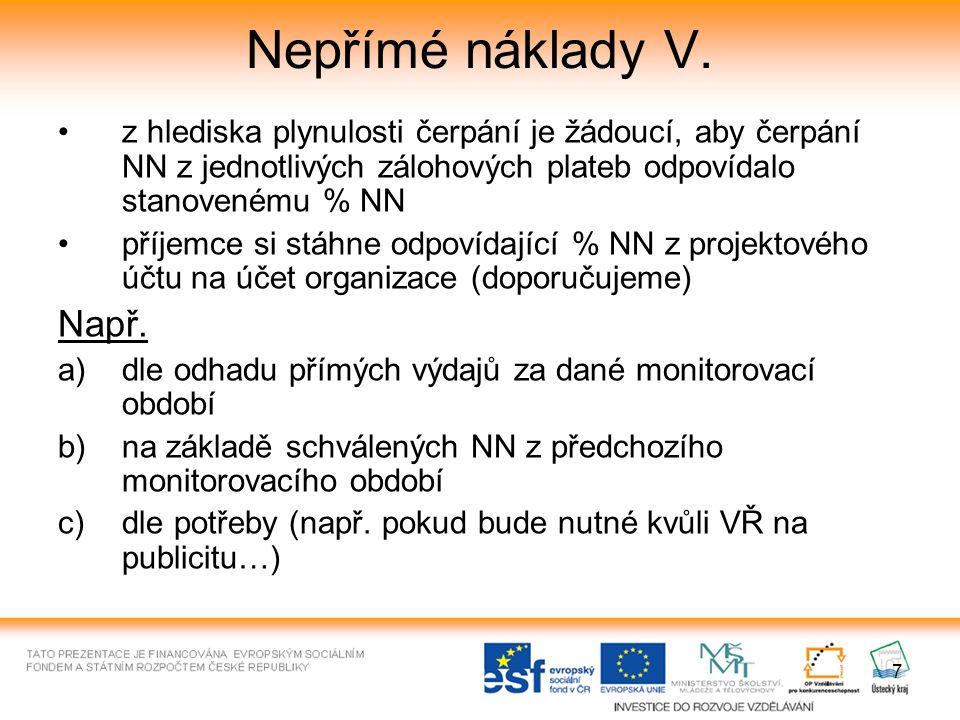 28 Přílohy Monitorovací zprávy - finanční Příloha č.