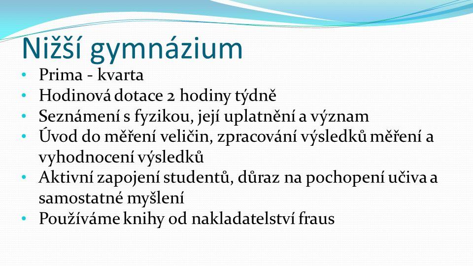 Vyšší gymnázium 1.-3.
