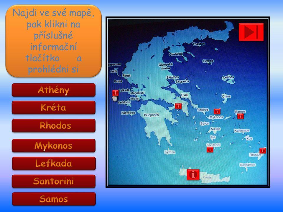 Najdi ve své mapě, pak klikni na příslušné informační tlačítko a prohlédni si