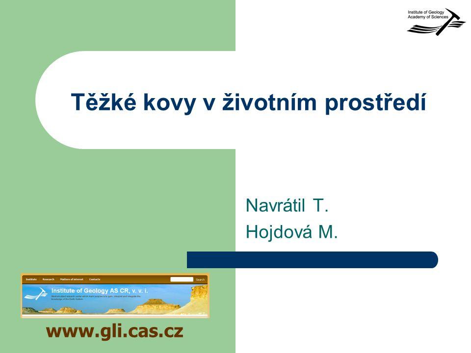 Těžké kovy v životním prostředí Navrátil T. Hojdová M. www.gli.cas.cz