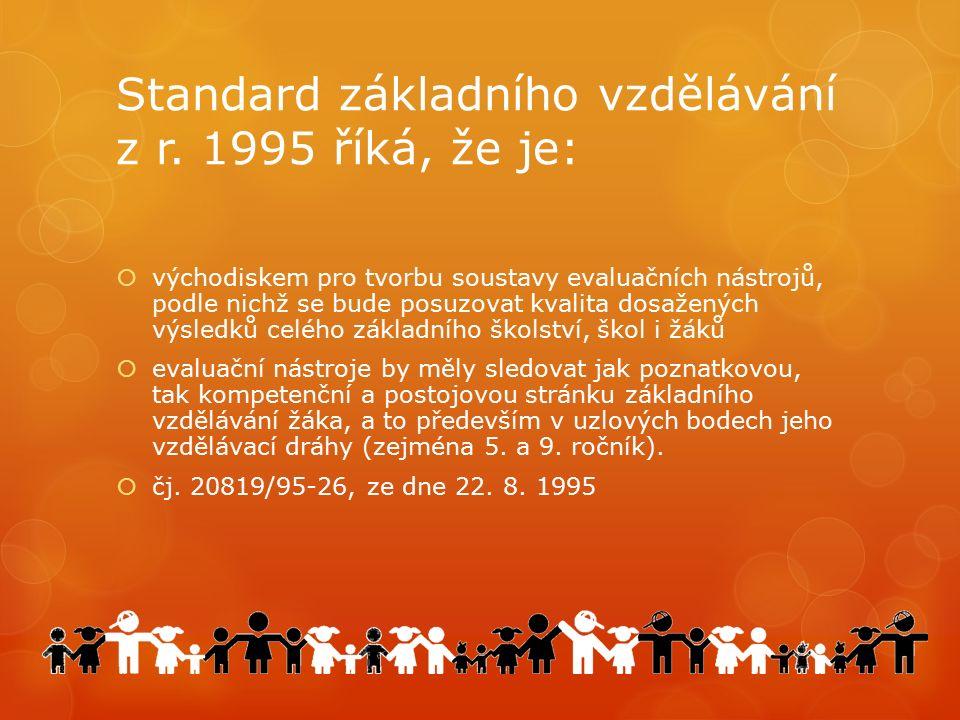  Standard základního vzdělávání byl závazným dokumentem pro tvorbu v současnosti dobíhajících vzdělávacích programů Základní škola, Národní škola a Občanská škola.