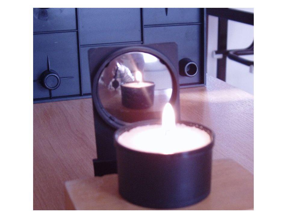 ohnisko vypuklého zrcadla je opět středem úsečky SV, tentokrát ale leží za zrcadlem u dutého zrcadla platí f < 0 (ohnisková vzdálenost je záporná) ohnisko leží za zrcadlem - někdy se říká, že je zdánlivé