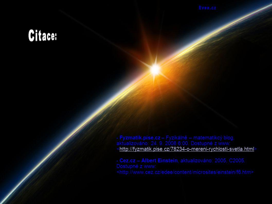 - Fyzmatik.pise.cz – Fyzikálně – matematikcý blog, aktualizováno: 24.