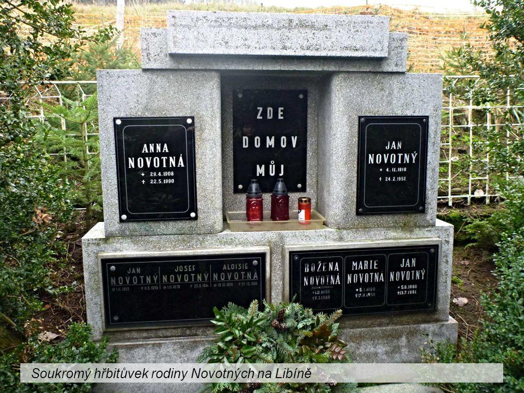 Soukromý hřbitůvek rodiny Novotných na Libíně
