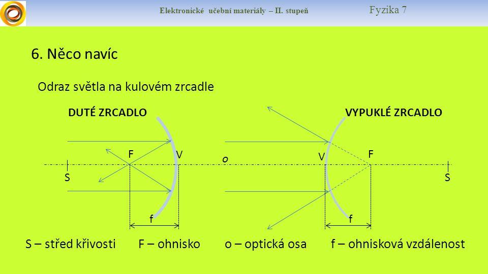Elektronické učební materiály – II. stupeň Fyzika 7 6.