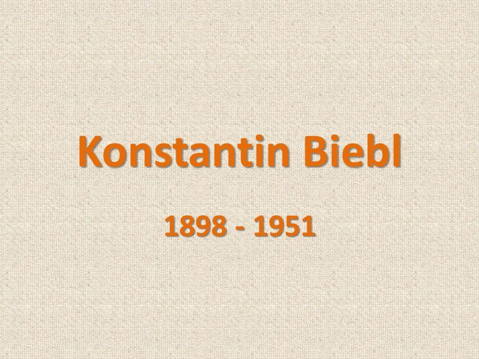 Konstantin Biebl 1898 - 1951