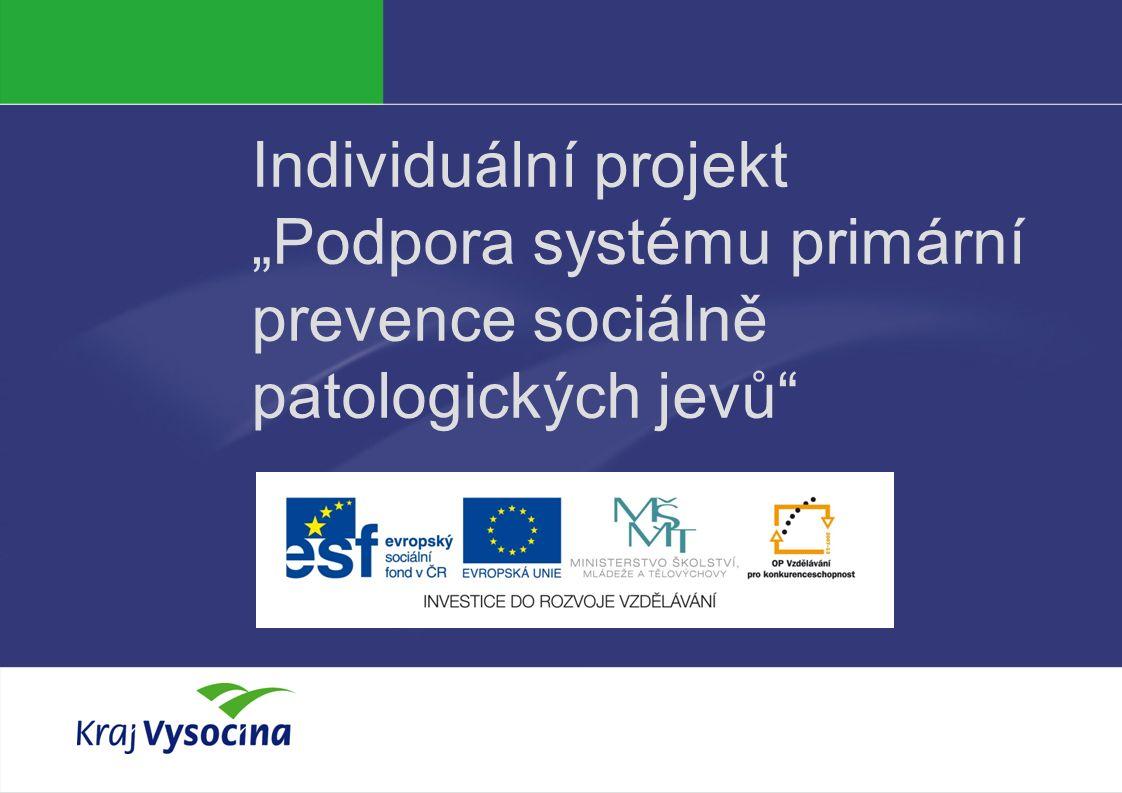 """Individuální projekt """"Podpora systému primární prevence sociálně patologických jevů"""