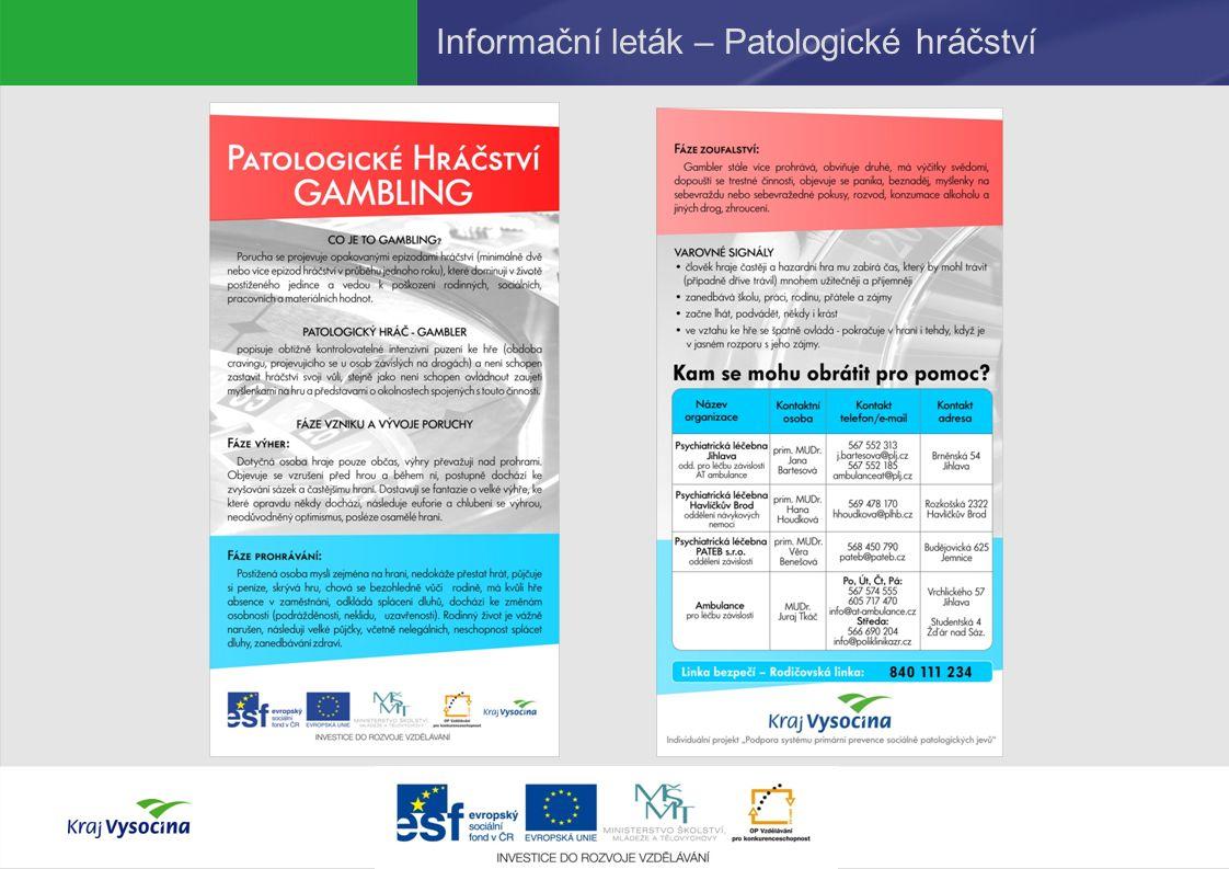 Informační leták – Patologické hráčství