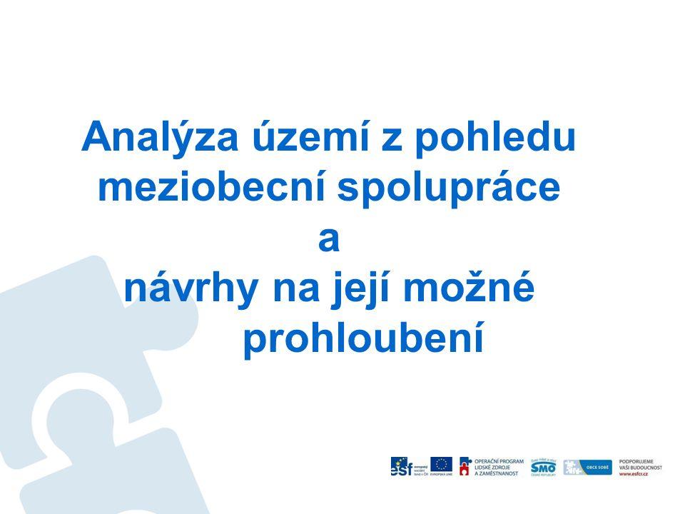 Analýza území z pohledu meziobecní spolupráce a návrhy na její možné prohloubení