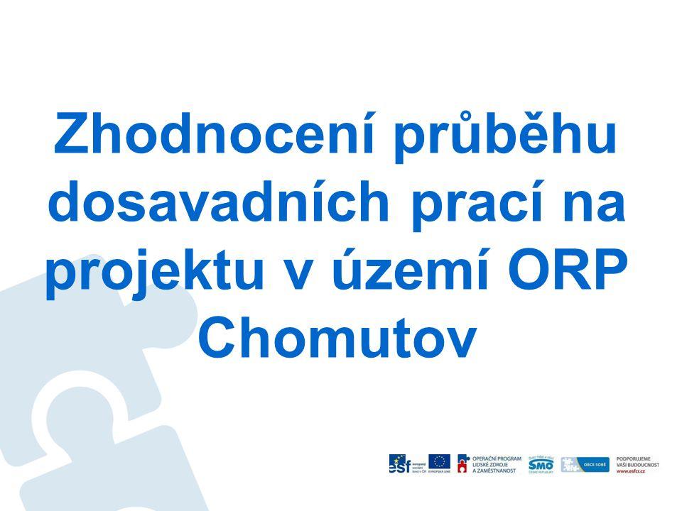 Zhodnocení průběhu dosavadních prací na projektu v území ORP Chomutov