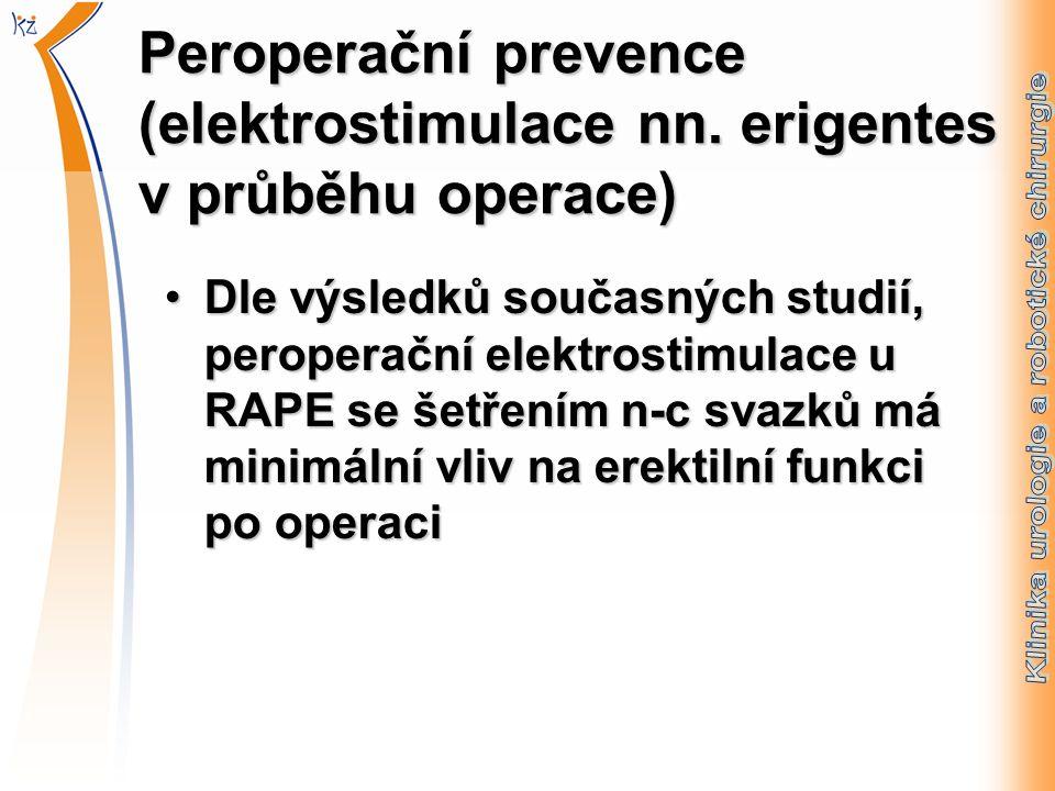 Peroperační prevence (elektrostimulace nn.
