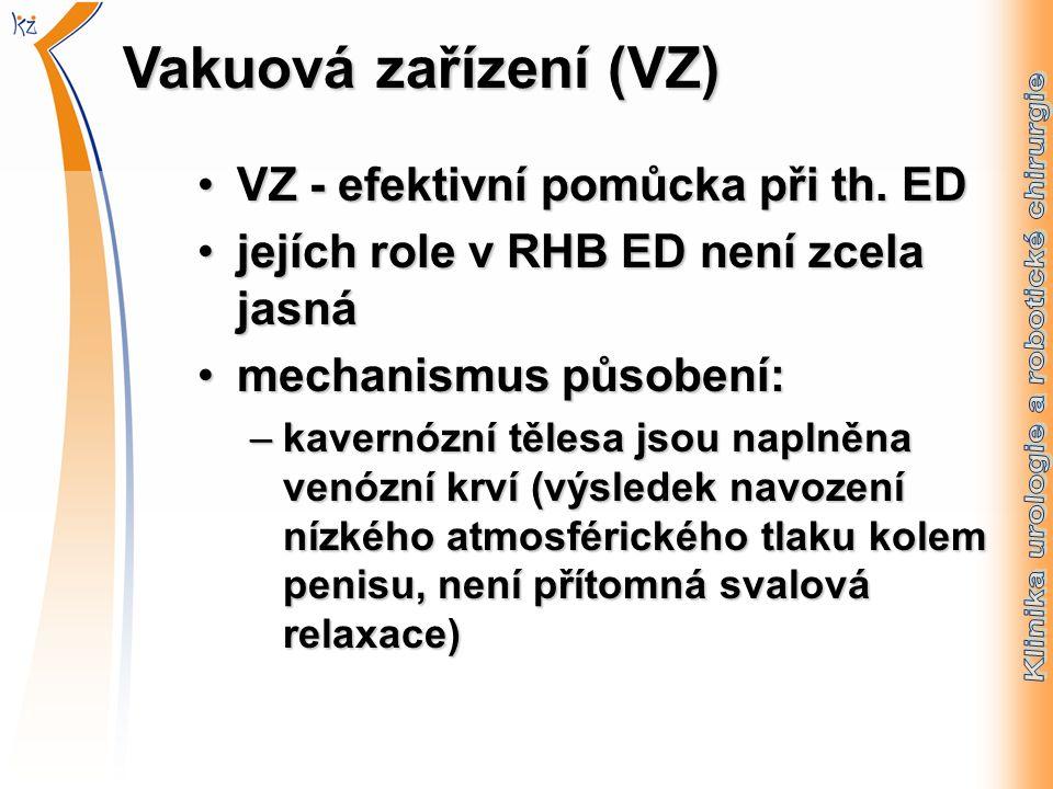 Vakuová zařízení (VZ) VZ - efektivní pomůcka při th.