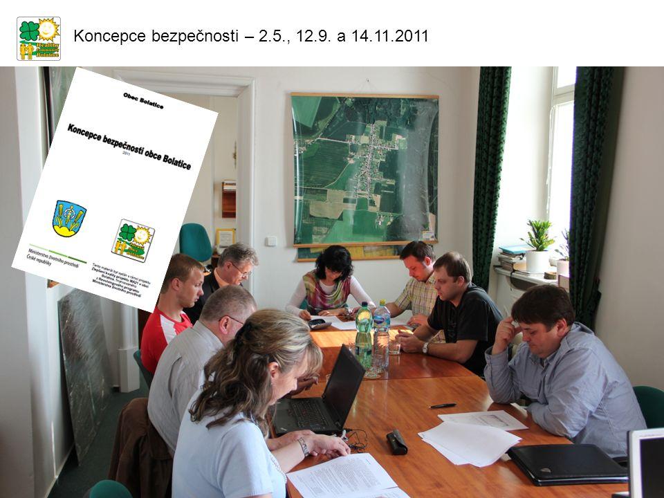 Koncepce bezpečnosti – 2.5., 12.9. a 14.11.2011