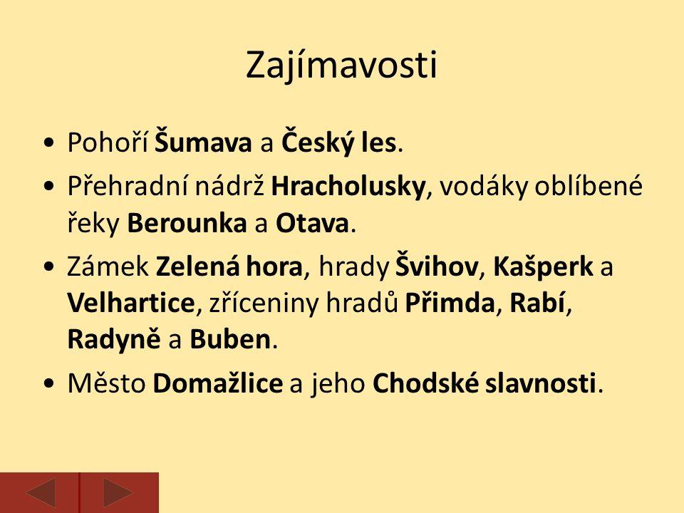 Na následujících snímcích urči názvy vyobrazených památek a zajímavostí Plzeňského kraje