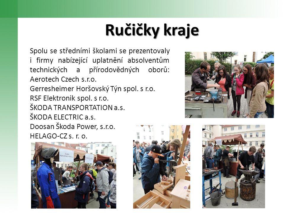 Ručičky kraje Spolu se středními školami se prezentovaly i firmy nabízející uplatnění absolventům technických a přírodovědných oborů: Aerotech Czech s.r.o.