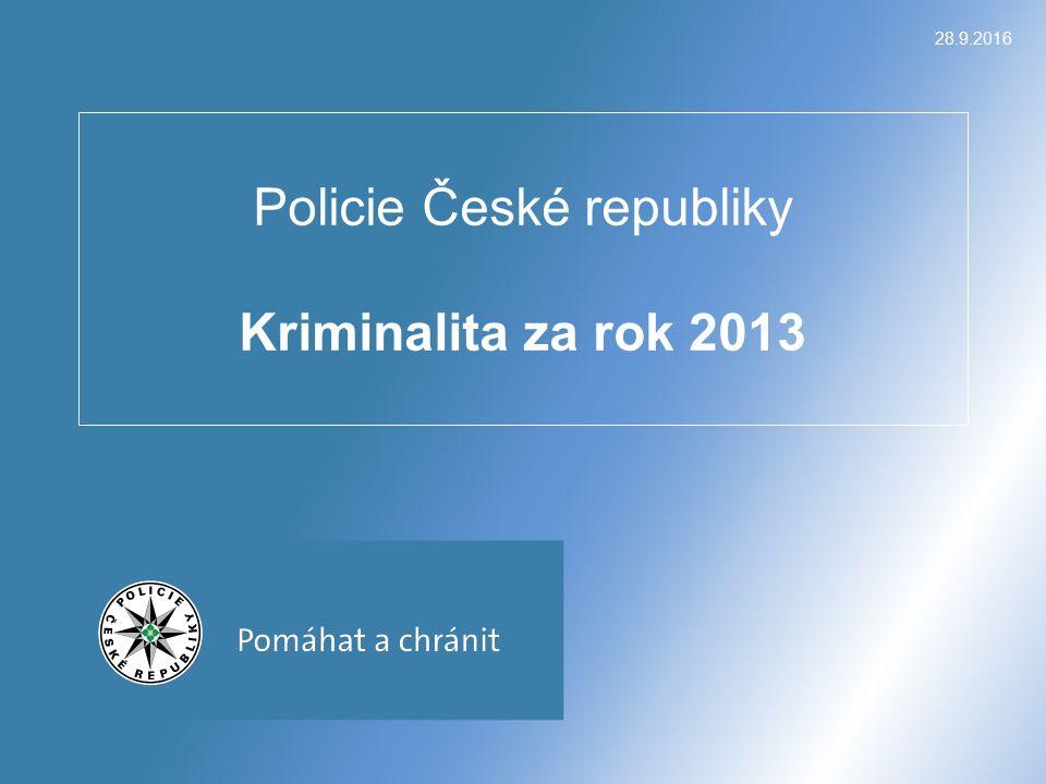 28.9.2016 Policie České republiky Kriminalita za rok 2013