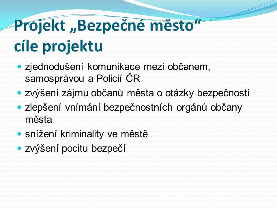 Spolupráce s PČR a MP Plzeň aktivní komunikace – vzájemná výměna informací vzájemná koordinace aktivní spolupráce při tvorbě bezpečnostních opatření vzájemná spolupráce při tvorbě preventivních projektů společná prezentace a aktivní účast při realizaci preventivních projektů finanční podpora