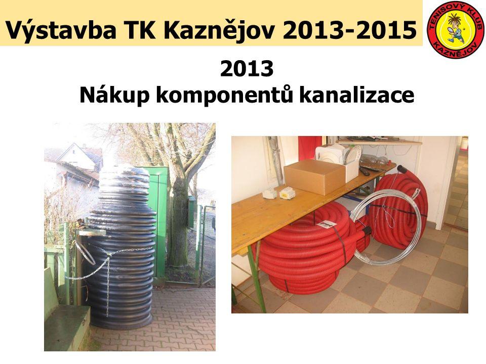 Výstavba TK Kaznějov 2013-2015 2013 Nákup komponentů kanalizace