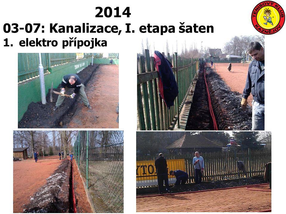 2014 03-07: Kanalizace, I. etapa šaten 1.elektro přípojka