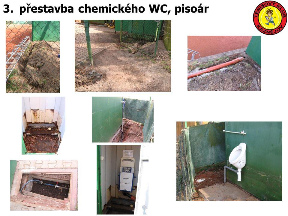 3.přestavba chemického WC, pisoár